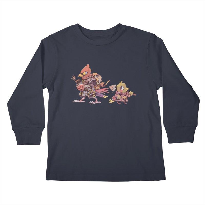 Bird Mercenaries Kids Longsleeve T-Shirt by Kyle Ferrin's Artist Shop