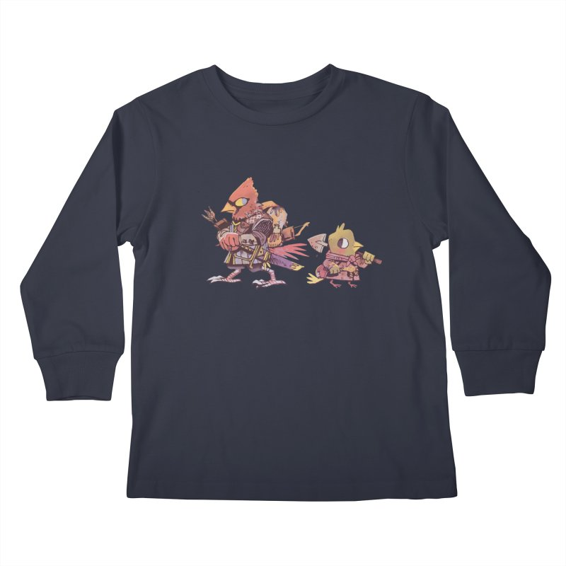 Bird Mercenaries Kids Longsleeve T-Shirt by Kyle Ferrin's Artist Shop