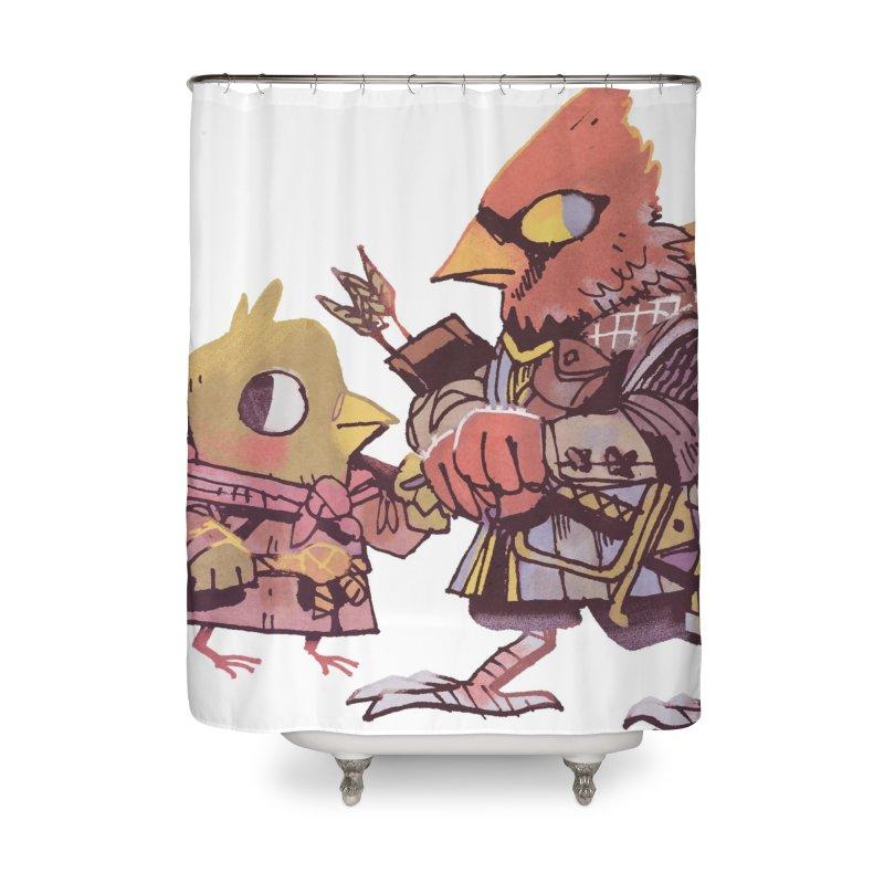 Bird Mercenaries Home Shower Curtain by Kyle Ferrin's Artist Shop