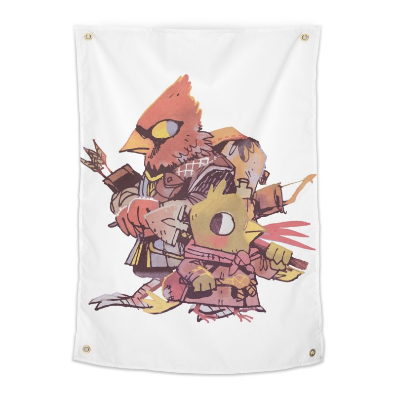 Bird Mercenaries Home Tapestry by Kyle Ferrin's Artist Shop