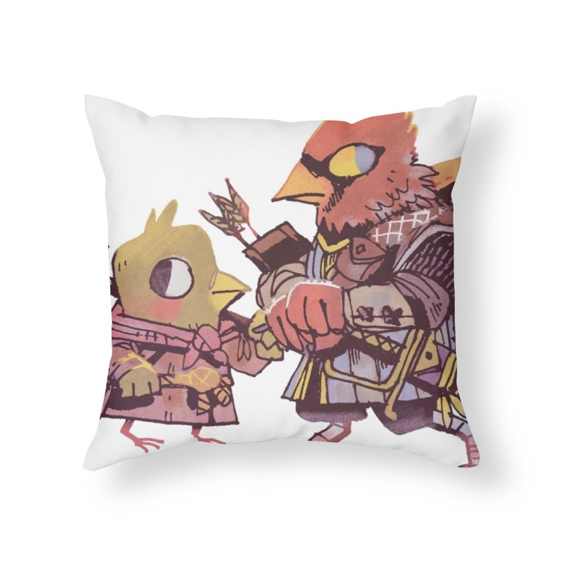 Bird Mercenaries Home Throw Pillow by Kyle Ferrin's Artist Shop