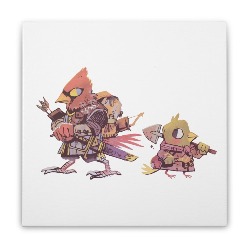 Bird Mercenaries Home Stretched Canvas by Kyle Ferrin's Artist Shop