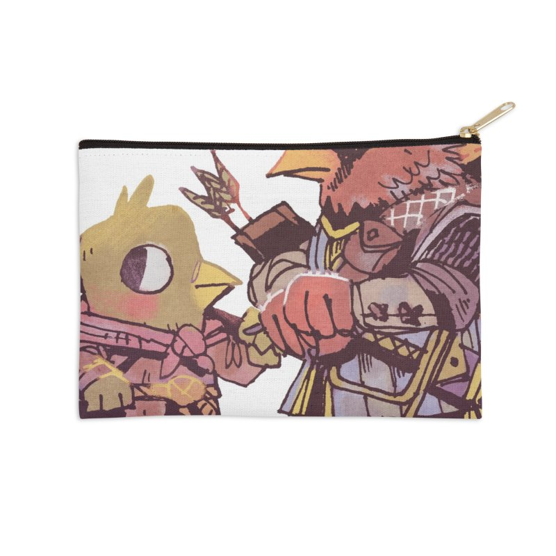 Bird Mercenaries Accessories Zip Pouch by Kyle Ferrin's Artist Shop