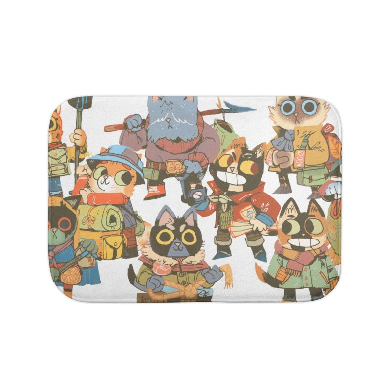 Fishing Felines Home Bath Mat by Kyle Ferrin's Artist Shop