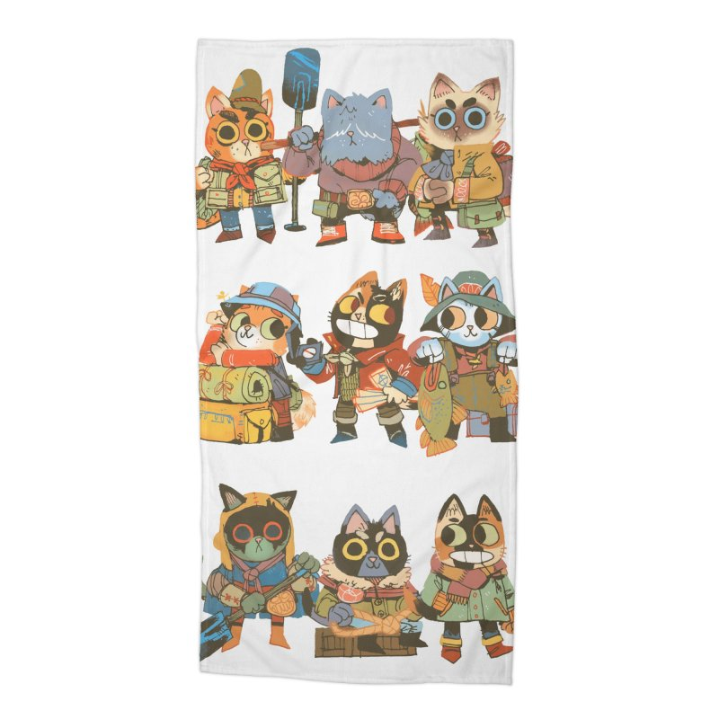 Fishing Felines Accessories Beach Towel by Kyle Ferrin's Artist Shop