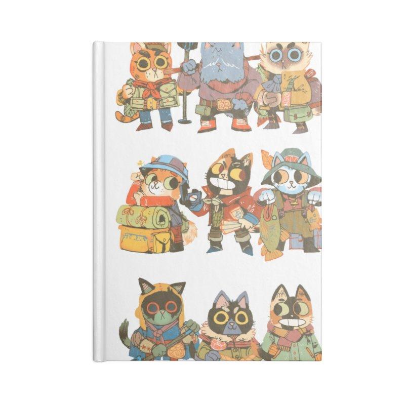 Fishing Felines Accessories Blank Journal Notebook by Kyle Ferrin's Artist Shop