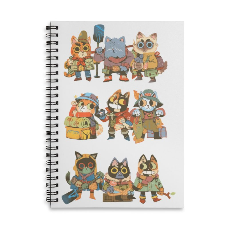 Fishing Felines Accessories Lined Spiral Notebook by Kyle Ferrin's Artist Shop