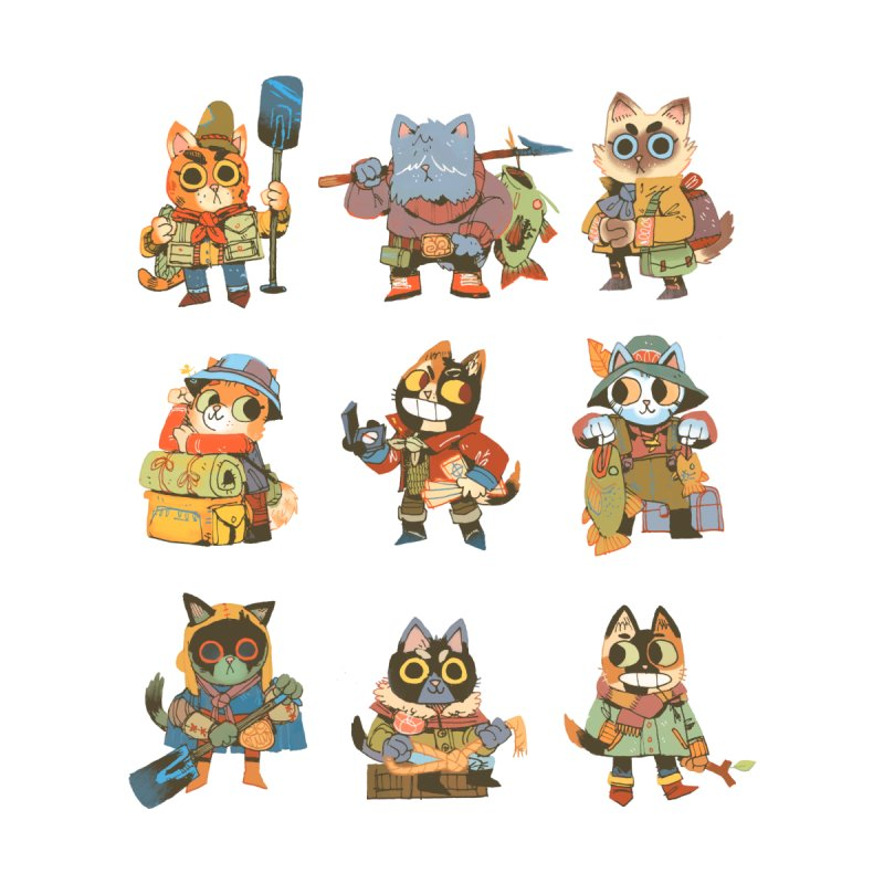 Fishing Felines Accessories Sticker by Kyle Ferrin's Artist Shop