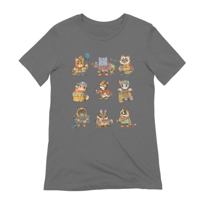 Fishing Felines Women's Extra Soft T-Shirt by Kyle Ferrin's Artist Shop