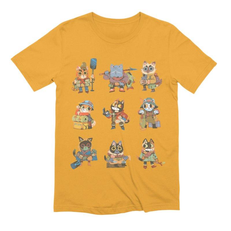 Fishing Felines Men's Extra Soft T-Shirt by Kyle Ferrin's Artist Shop