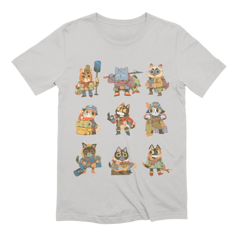 Fishing Felines Men's Extra Soft T-Shirt by Kyle Ferrin's Artist Shop
