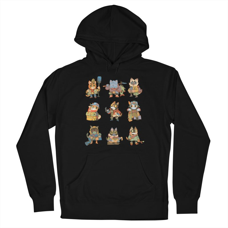 Fishing Felines Women's French Terry Pullover Hoody by Kyle Ferrin's Artist Shop