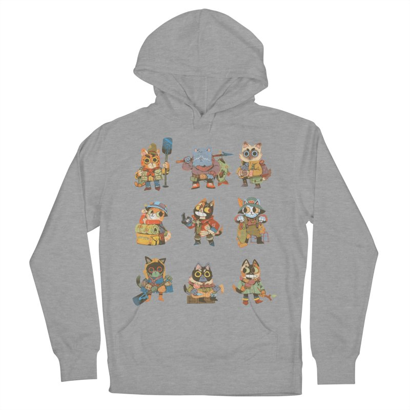 Fishing Felines Men's Pullover Hoody by Kyle Ferrin's Artist Shop