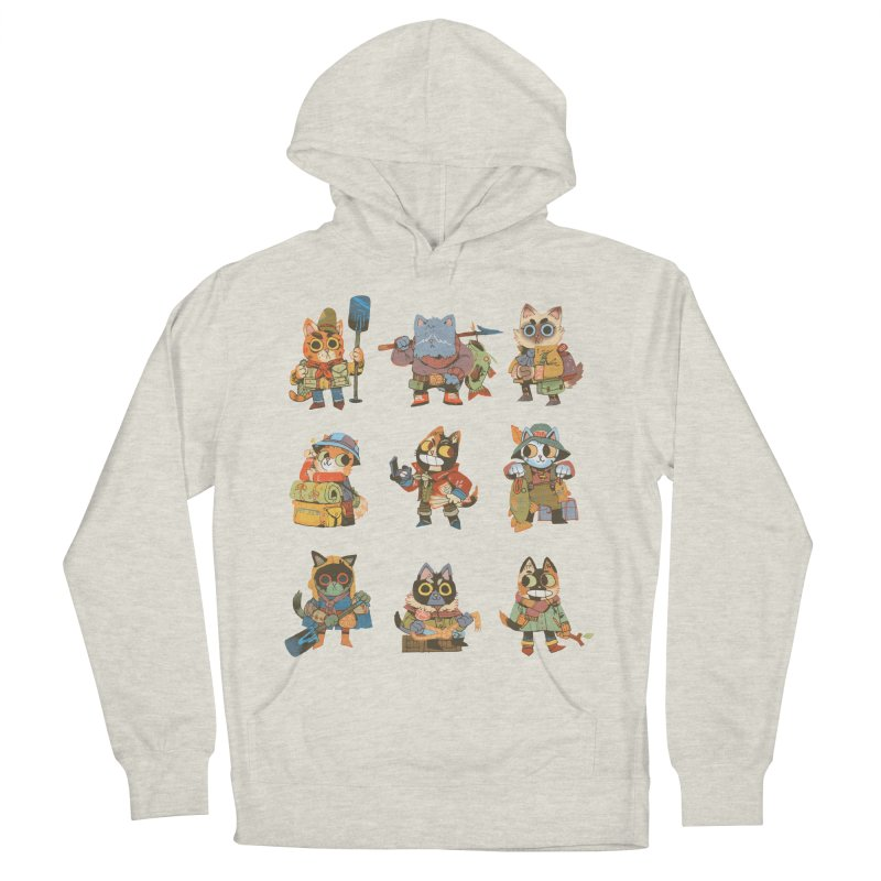 Fishing Felines Men's French Terry Pullover Hoody by Kyle Ferrin's Artist Shop