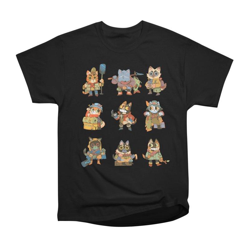 Fishing Felines Men's Heavyweight T-Shirt by Kyle Ferrin's Artist Shop