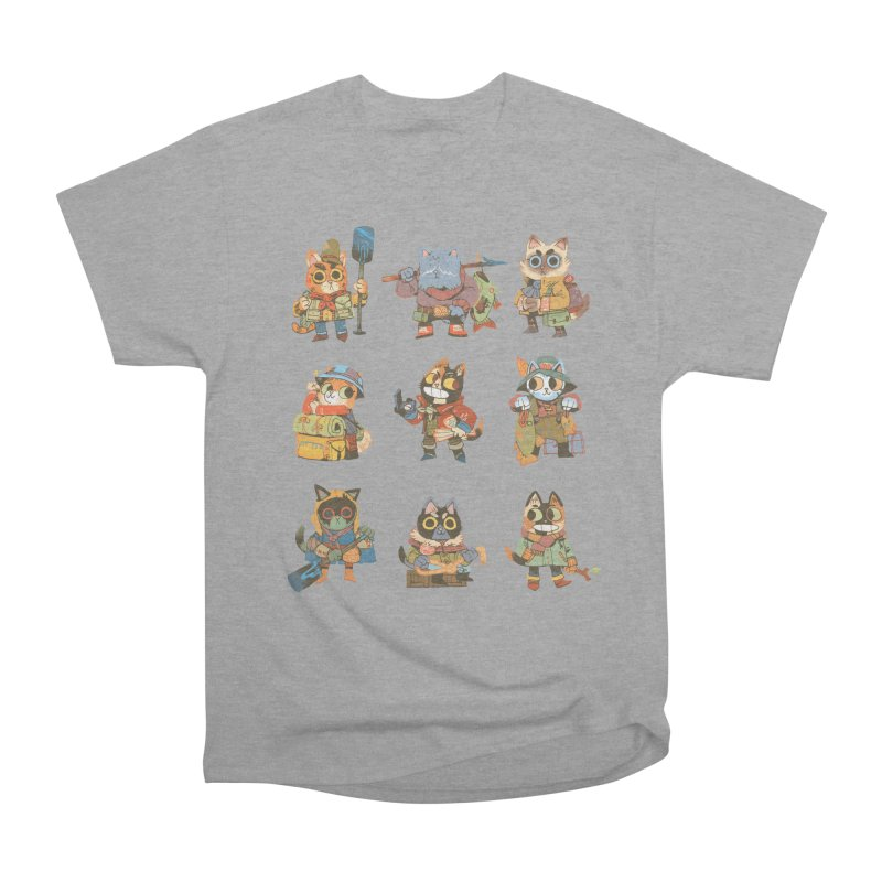 Fishing Felines Men's Heavyweight T-Shirt by Kyle Ferrin's Artist Shop
