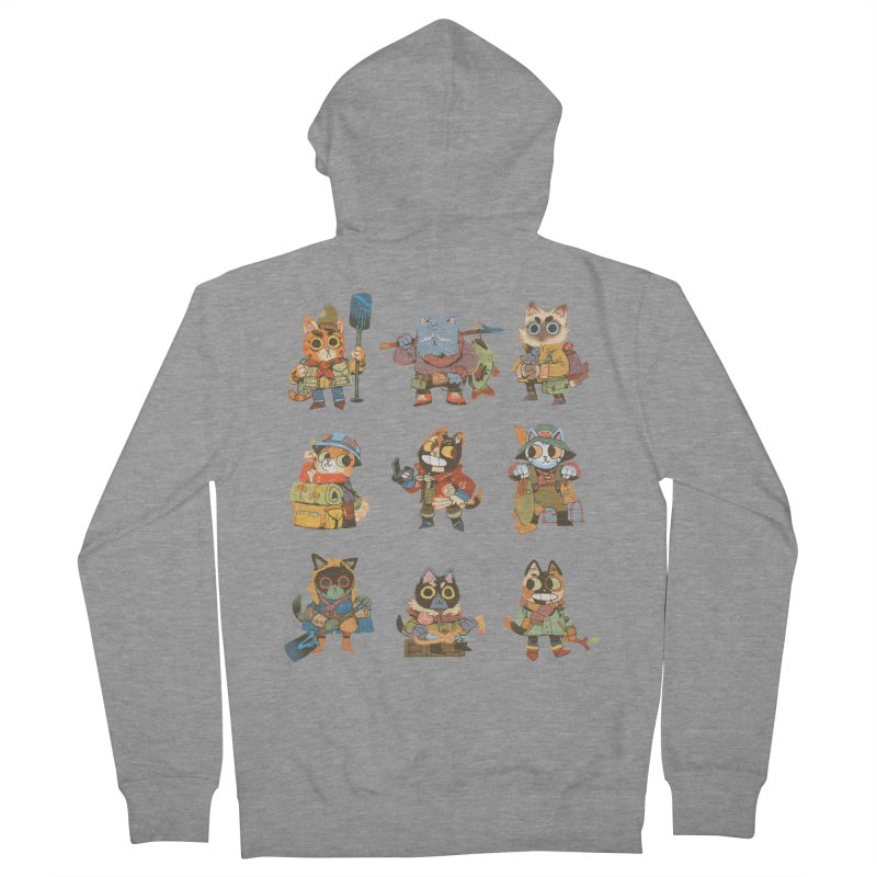 Fishing Felines Women's French Terry Zip-Up Hoody by Kyle Ferrin's Artist Shop