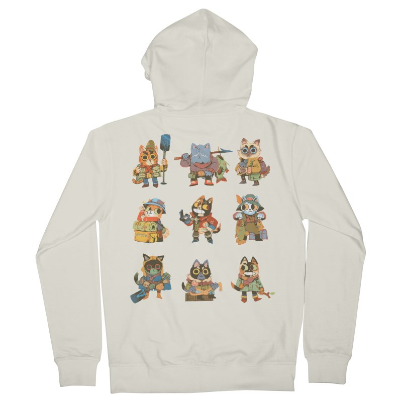 Fishing Felines Women's Zip-Up Hoody by Kyle Ferrin's Artist Shop