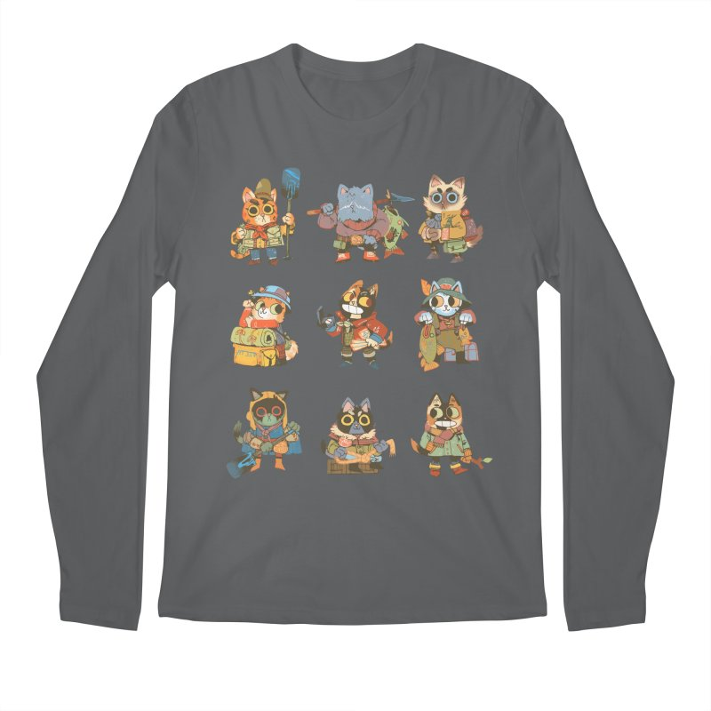 Fishing Felines Men's Regular Longsleeve T-Shirt by Kyle Ferrin's Artist Shop