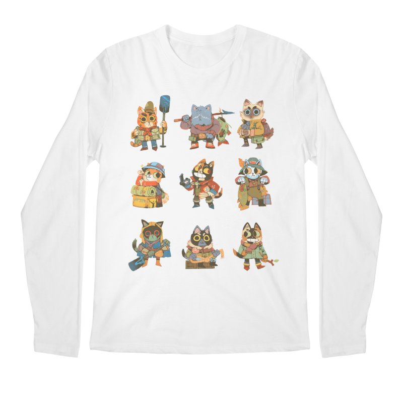Fishing Felines Men's Longsleeve T-Shirt by Kyle Ferrin's Artist Shop