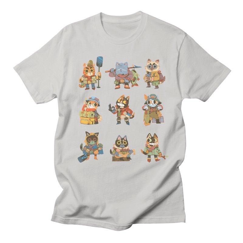 Fishing Felines Women's Regular Unisex T-Shirt by Kyle Ferrin's Artist Shop
