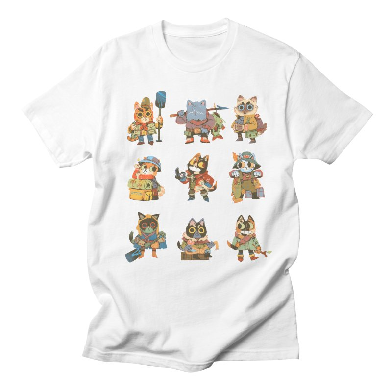 Fishing Felines Men's T-Shirt by Kyle Ferrin's Artist Shop