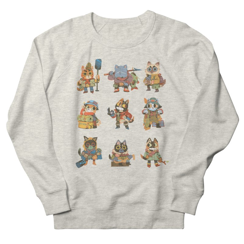 Fishing Felines Women's French Terry Sweatshirt by Kyle Ferrin's Artist Shop