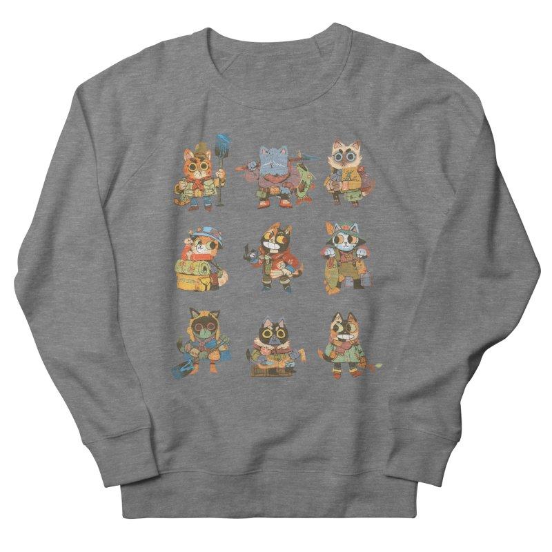 Fishing Felines Men's French Terry Sweatshirt by Kyle Ferrin's Artist Shop
