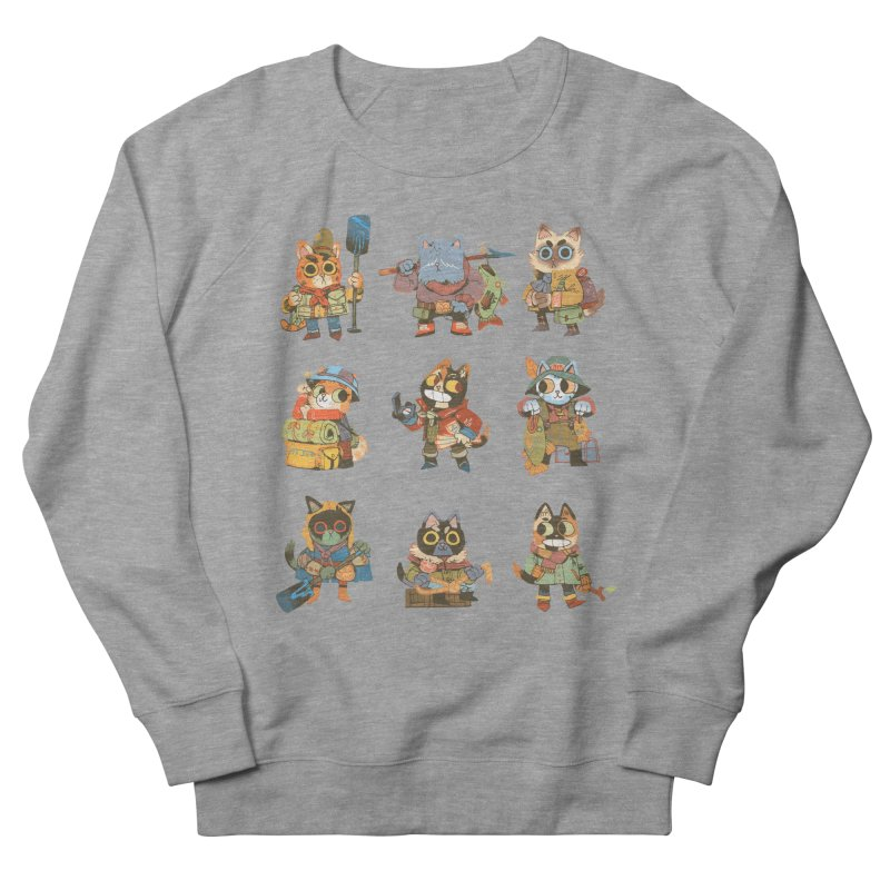Fishing Felines Men's Sweatshirt by Kyle Ferrin's Artist Shop