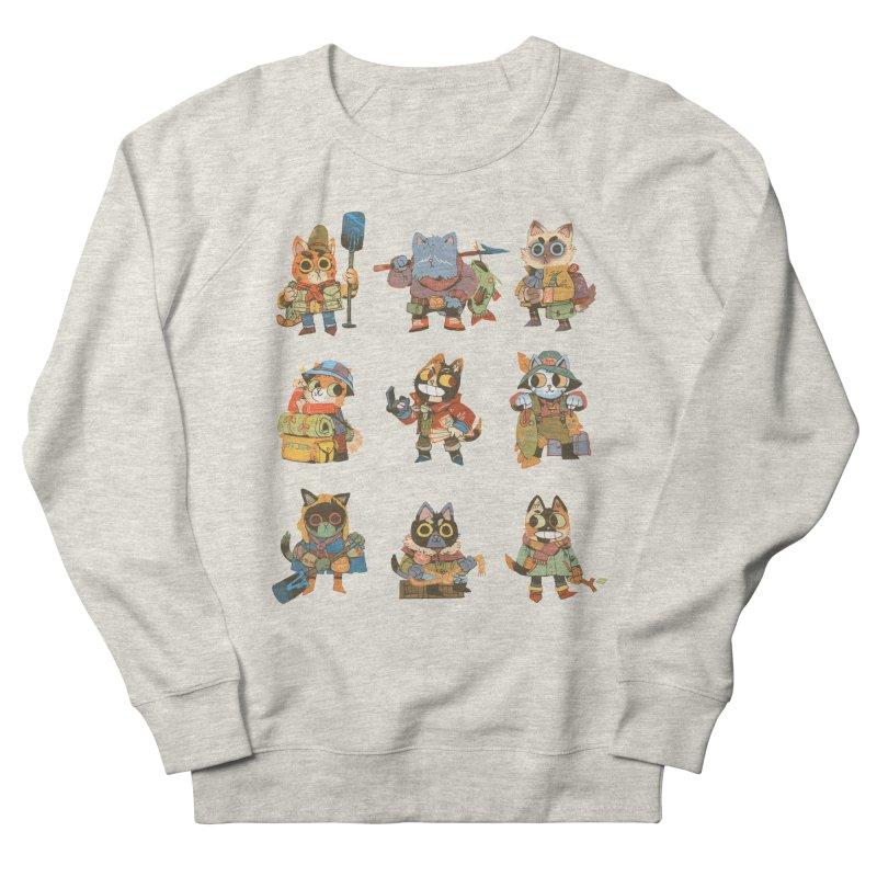Fishing Felines Men's Sweatshirt by Kyle Ferrin's Artist Shop