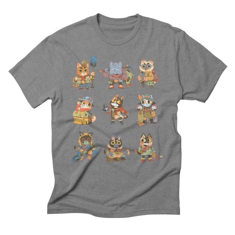 Fishing Felines Men's T-Shirt by Kyle Ferrin's Artist Shop