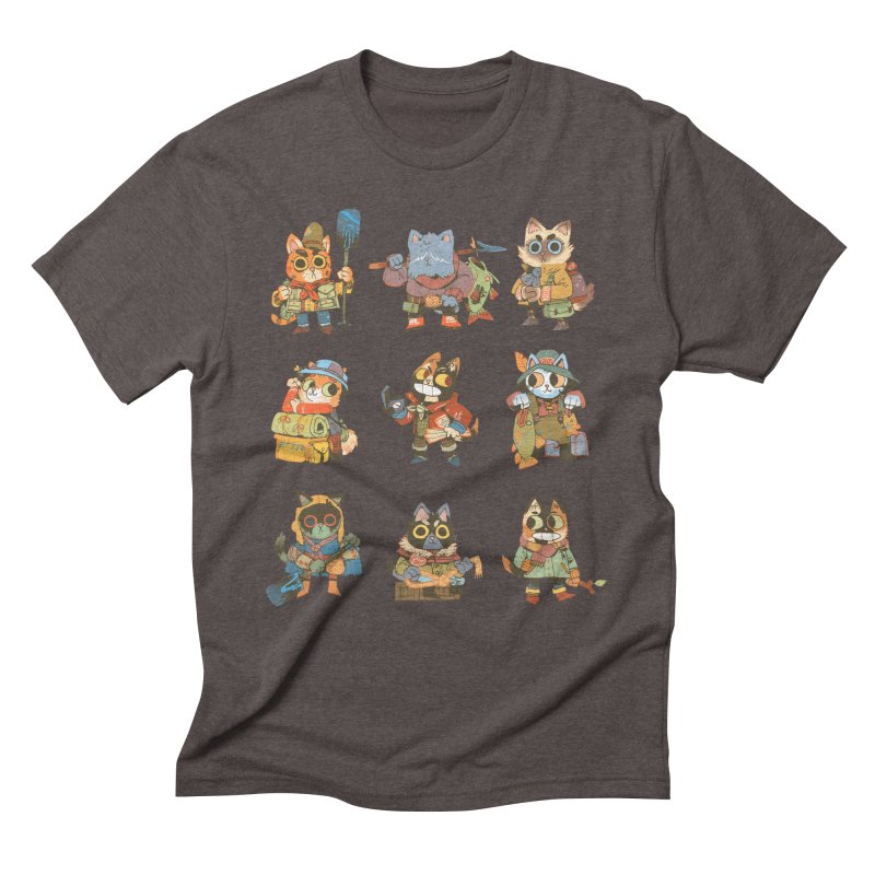 Fishing Felines Men's Triblend T-Shirt by Kyle Ferrin's Artist Shop