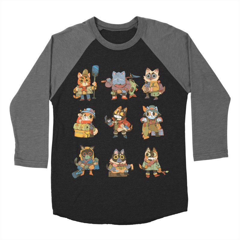 Fishing Felines Men's Baseball Triblend Longsleeve T-Shirt by Kyle Ferrin's Artist Shop