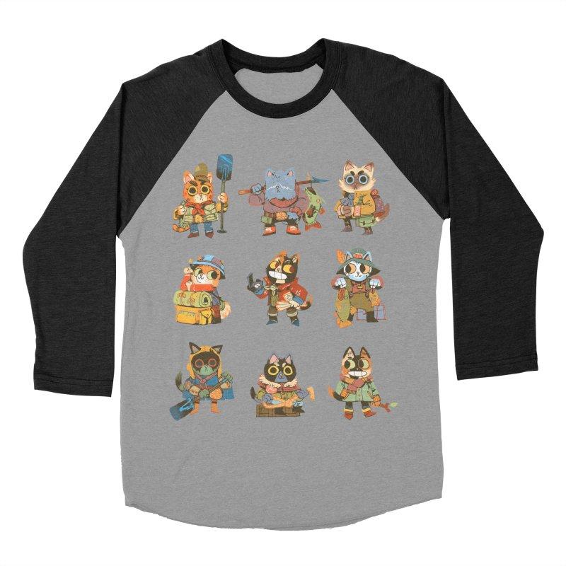 Fishing Felines Men's Baseball Triblend T-Shirt by Kyle Ferrin's Artist Shop