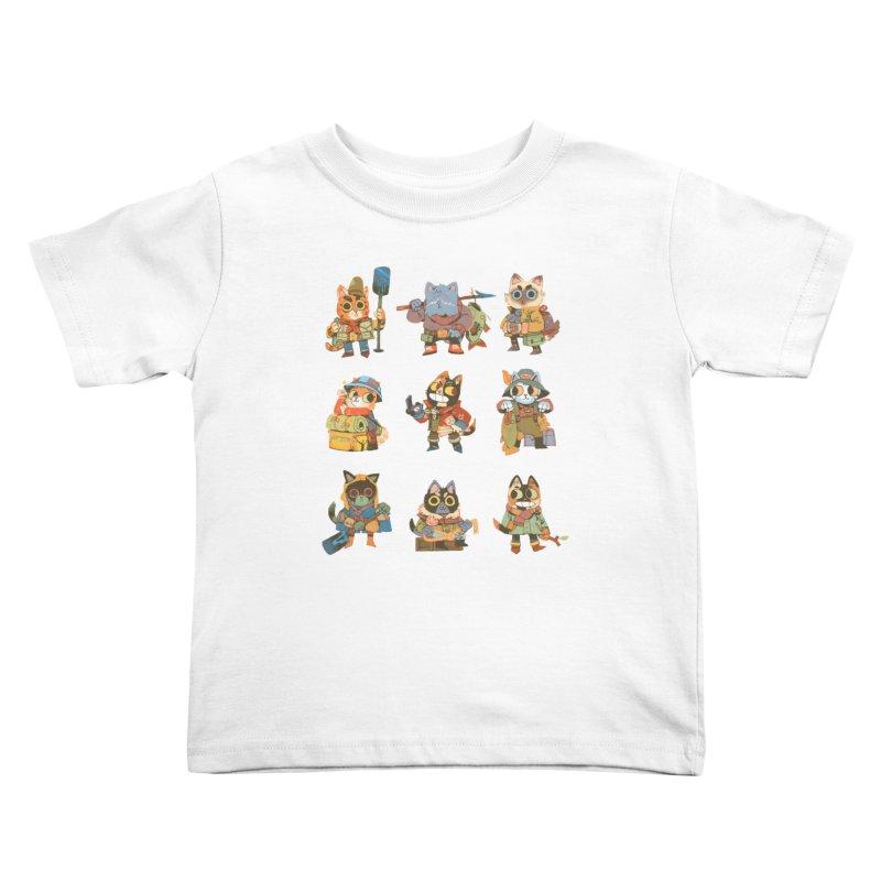 Fishing Felines Kids Toddler T-Shirt by Kyle Ferrin's Artist Shop