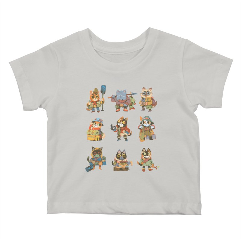 Fishing Felines Kids Baby T-Shirt by Kyle Ferrin's Artist Shop