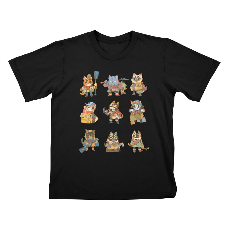 Fishing Felines Kids T-shirt by Kyle Ferrin's Artist Shop