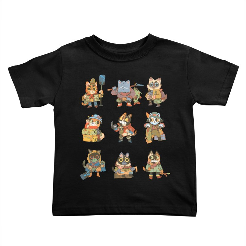 Fishing Felines Kids Toddler T-Shirt by Kyle Ferrin's Artist Shop