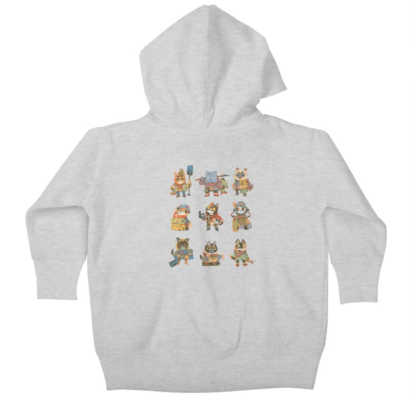 Fishing Felines Kids Baby Zip-Up Hoody by Kyle Ferrin's Artist Shop