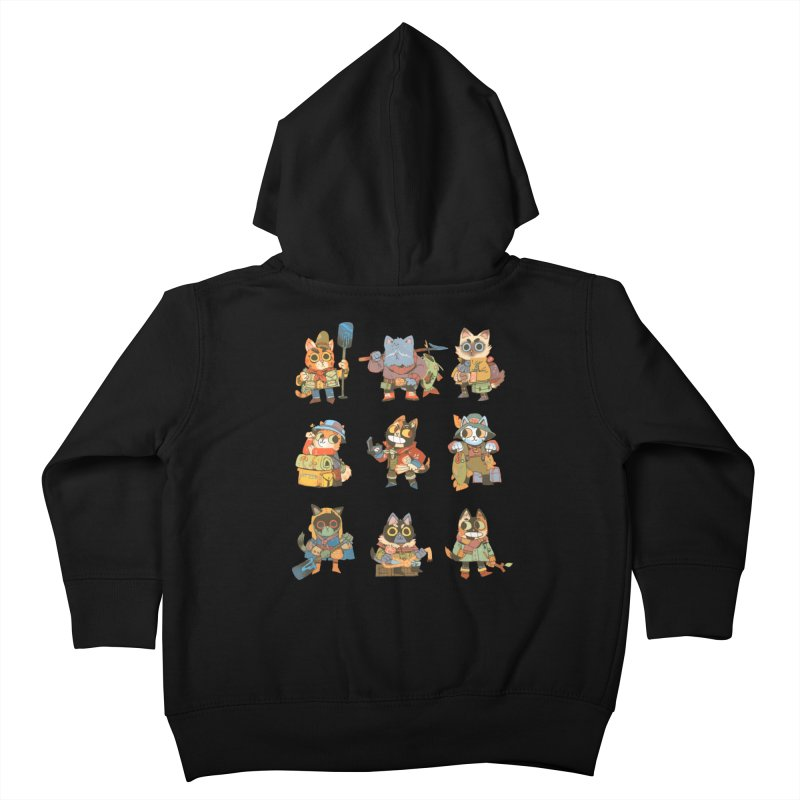Fishing Felines Kids Toddler Zip-Up Hoody by Kyle Ferrin's Artist Shop