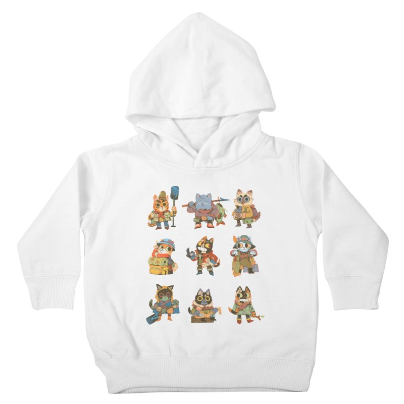 Fishing Felines Kids Toddler Pullover Hoody by Kyle Ferrin's Artist Shop