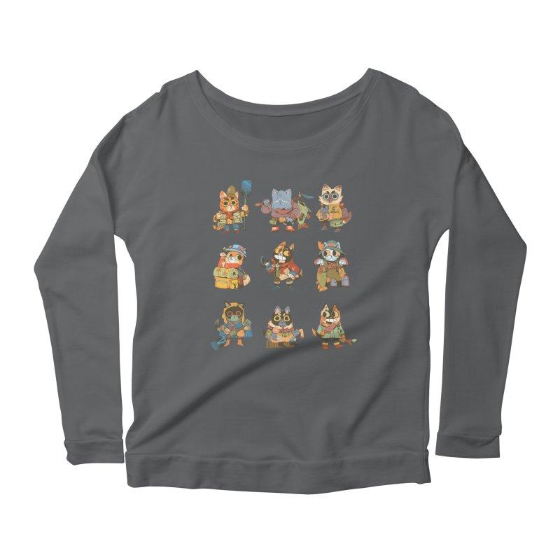 Fishing Felines Women's Longsleeve T-Shirt by Kyle Ferrin's Artist Shop