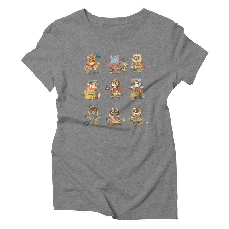 Fishing Felines Women's Triblend T-shirt by Kyle Ferrin's Artist Shop
