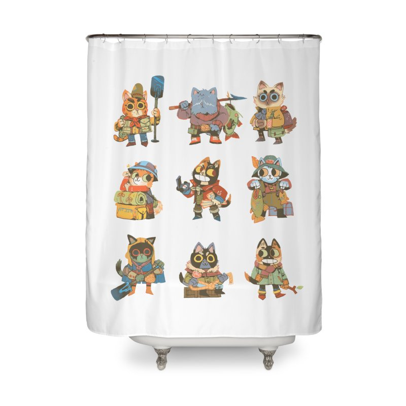 Fishing Felines Home Shower Curtain by Kyle Ferrin's Artist Shop