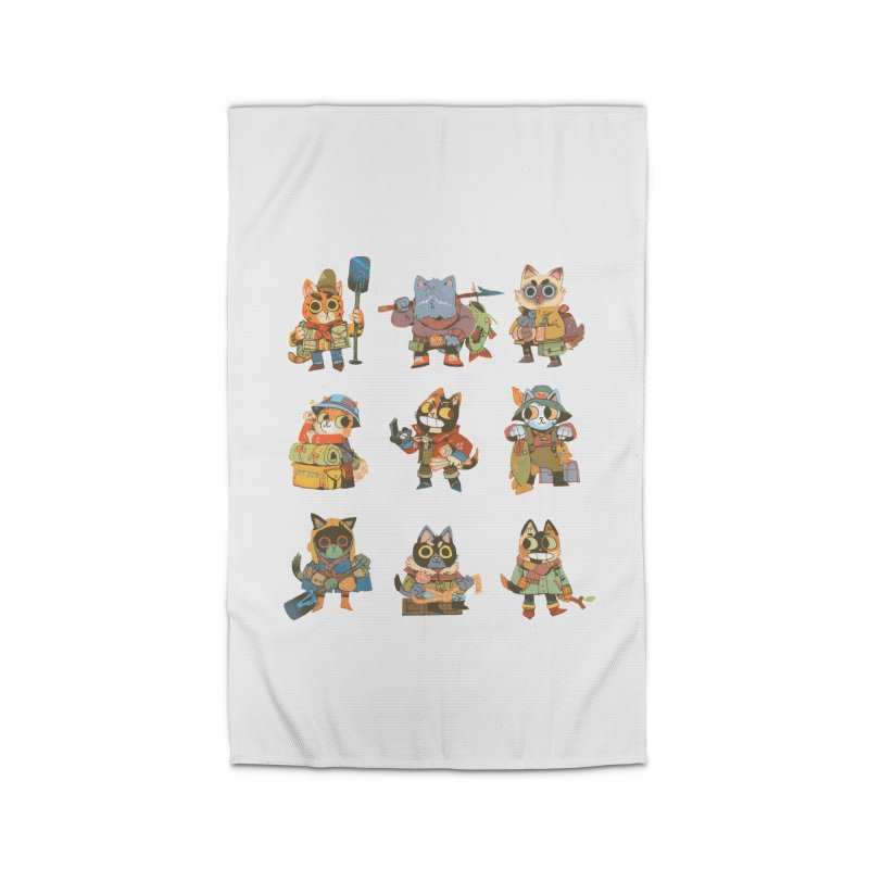 Fishing Felines Home Rug by Kyle Ferrin's Artist Shop