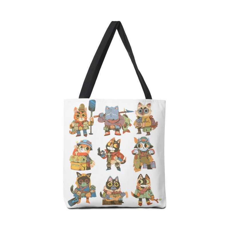 Fishing Felines Accessories Tote Bag Bag by Kyle Ferrin's Artist Shop