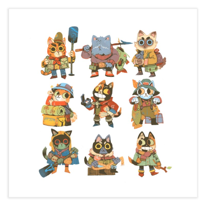 Fishing Felines Home Fine Art Print by Kyle Ferrin's Artist Shop