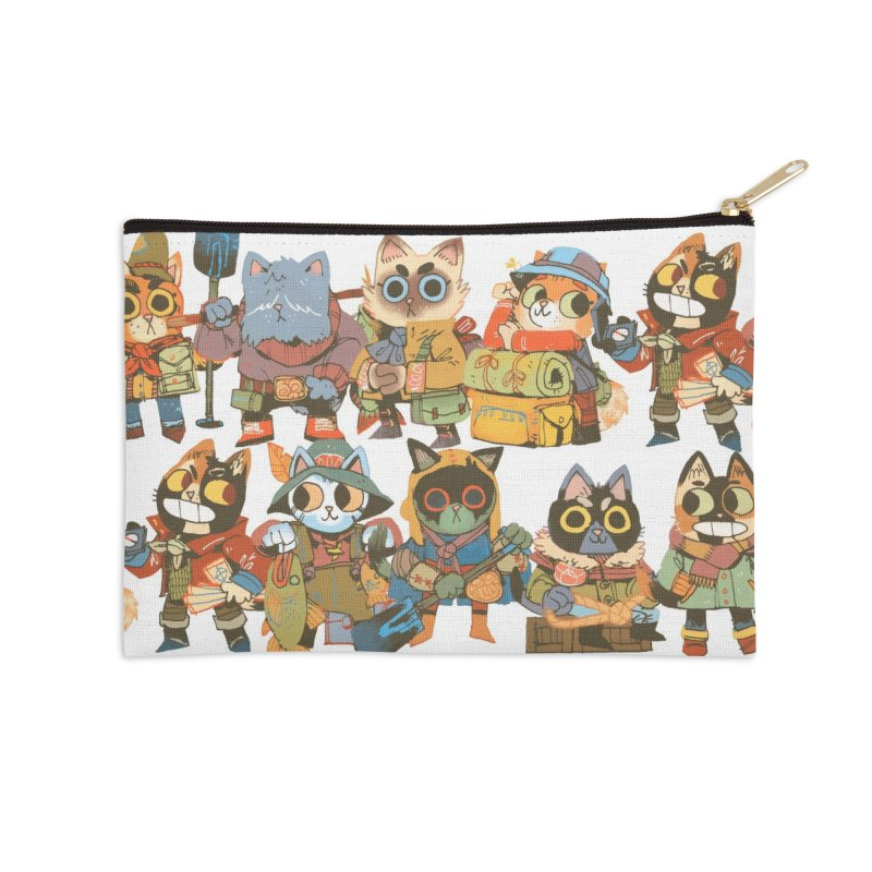 Fishing Felines Accessories Zip Pouch by Kyle Ferrin's Artist Shop
