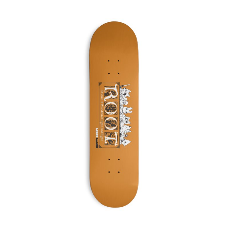 Root Logo Accessories Deck Only Skateboard by Kyle Ferrin's Artist Shop