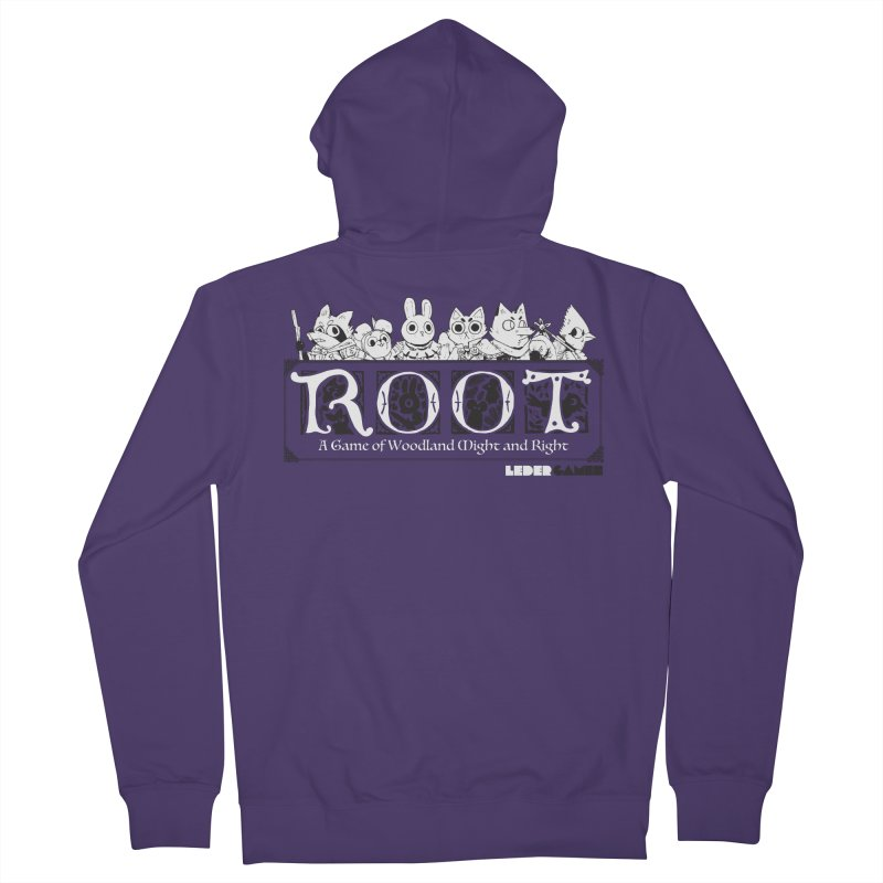 Root Logo Women's French Terry Zip-Up Hoody by Kyle Ferrin's Artist Shop